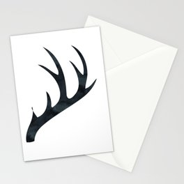 Antlers Black and White Stationery Cards