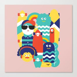 Skate gang Canvas Print