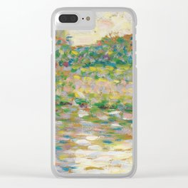 The Seine at Courbevoie, Georges Seurat Clear iPhone Case