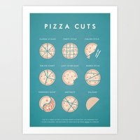 pizza Art Prints featuring Pizza by Travel Poster Co.