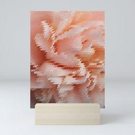 Modern abstract art bright red rose in black frame Mini Art Print