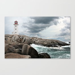 Peggy's Cove Light House -- Nova Scotia Canvas Print