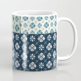 Vintage Tiles #society6 #pattern #indigo Coffee Mug