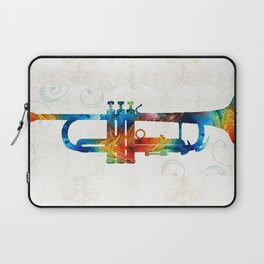 Colorful Trumpet Art Color Fusion By Sharon Cummings Laptop Sleeve