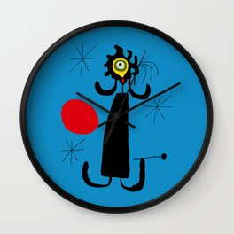 Art work inspired to J. Mirò (n.4) Wall Clock