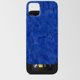 Dark Classic Blue Ombre Burnished Stucco - Faux Finishes - Venetian Plaster - Corbin Henry iPhone Card Case