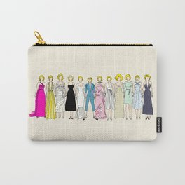 Marilyn Fashion Vintage Retro in Cream Carry-All Pouch