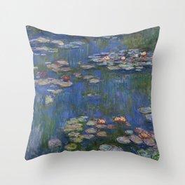 WATER LILIES - CLAUDE MONET Throw Pillow