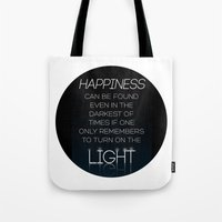dumbledore Tote Bags featuring Harry Potter Albus Dumbledore Quote by raeuberstochter