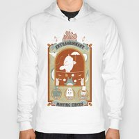 circus Hoodies featuring The Moving Circus by Teo Zirinis
