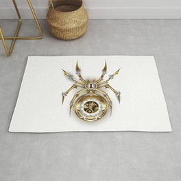Spider with Clock ( Steampunk ) Rug
