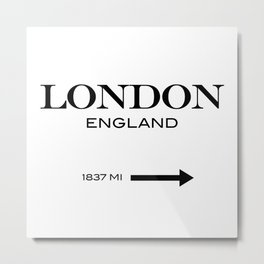 London Metal Print