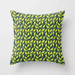 Canaries in Blue and Yellow Throw Pillow