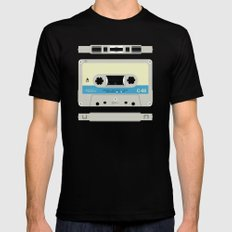 Compact cassette Black Mens Fitted Tee MEDIUM