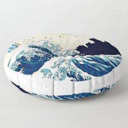 Portland Kanagawa Wave Floor Pillow