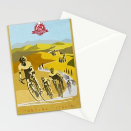 Strade Bianche retro cycling classic art Stationery Cards