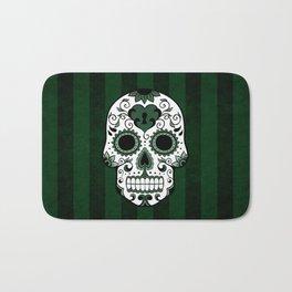 Día de los Muertos in Emerald Green Bath Mat