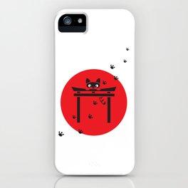 Curious Tanuki iPhone Case