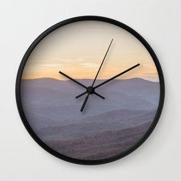 North Georgia Mountains Wall Clock