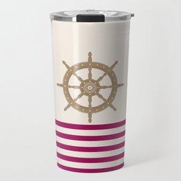 AFE Gold Nautical Helm Wheel Travel Mug
