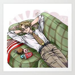Sleeping USA Art Print