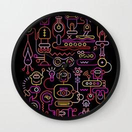 Robot Workshop Wall Clock
