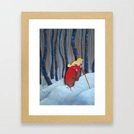 Waiting in the Woods Framed Art Print