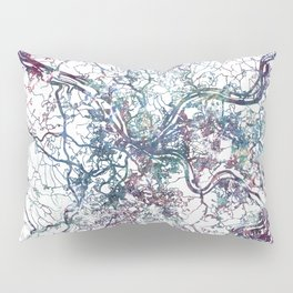 Pittsburgh map Pillow Sham