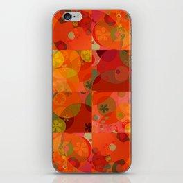 """Circles & Flowers Cartoon"" iPhone Skin"