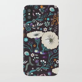 Subsea floral pattern iPhone Case