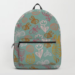 Bee with Flowers Backpack
