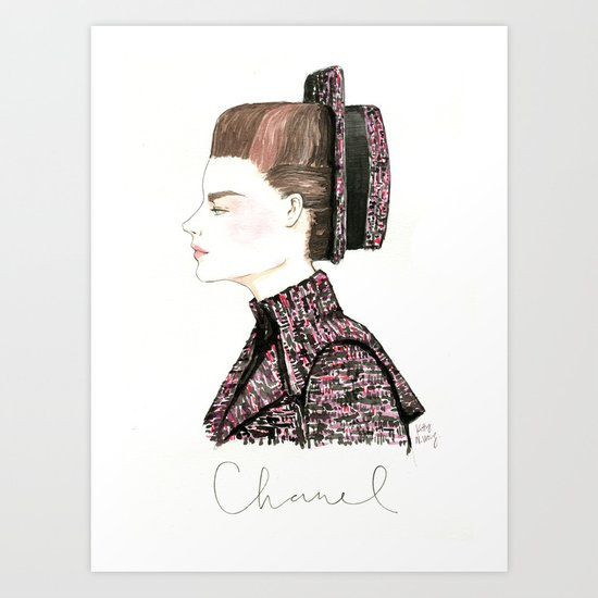 Chanel Haute Couture Fall 2013 Art Print