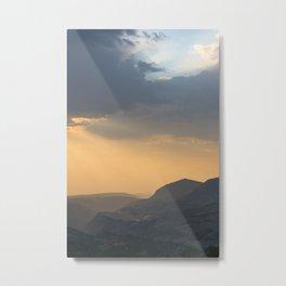 mountains at dusk - telluride, colorado Metal Print