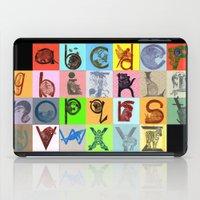 alphabet iPad Cases featuring Alphabet by minouette