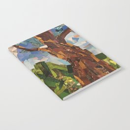 MOON WOOD COLLAGE Notebook