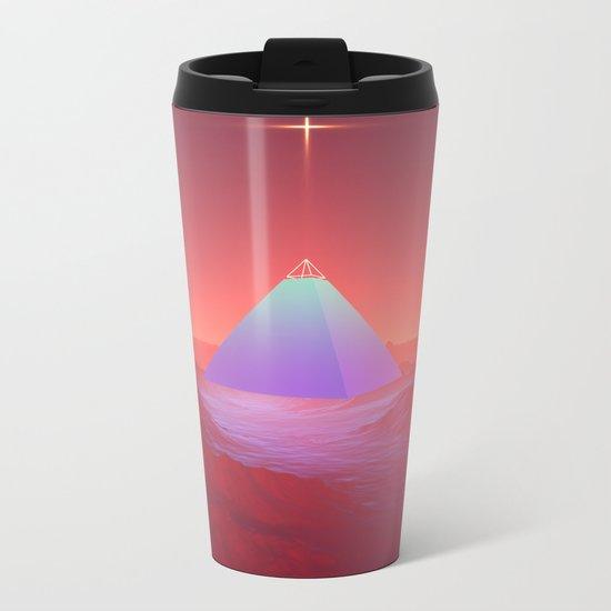 Blue Pyramid Metal Travel Mug