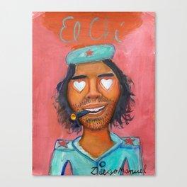 Che Guevara and hearts 4 Canvas Print