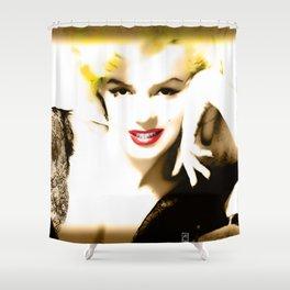 Portrait of  Marilyn Monroe Shower Curtain
