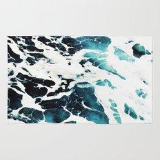 Dark Ocean Waves Rug