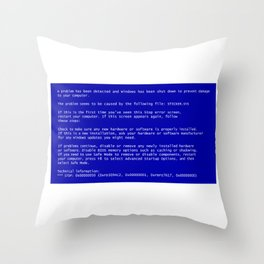 Blue screen of death Throw Pillow