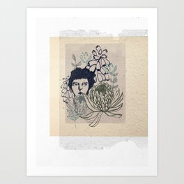Hiding in the Garden Art Print