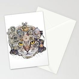 Sci Fi Cat Stationery Cards