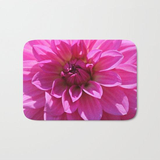 Lush Pink Dahlia Bath Mat