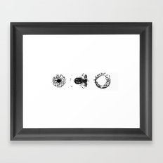 FLUX ONE triptych F03ex01BW 1-1400 Framed Art Print
