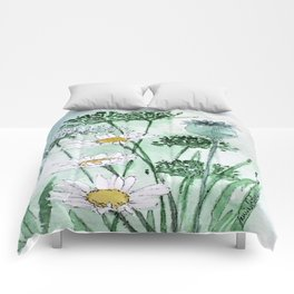 Thistles and Daisies Comforters