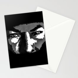 RIP Nicky Hayden 69 - black and white helmet portrait popart Stationery Cards
