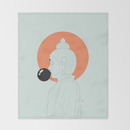 Buddha : Concentrate on the Void! Throw Blanket