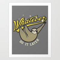 whatever Art Prints featuring Whatever by Mathiole
