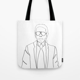 Karl Lagerfeld portrait Tote Bag