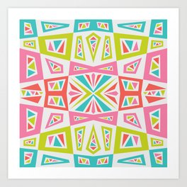 checkmate kaleidoscope Art Print
